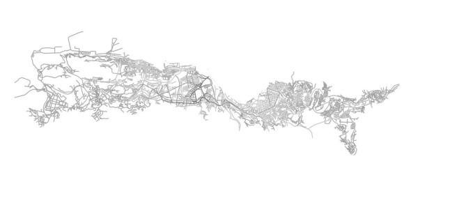 Seguridad en las calles y la sintaxis espacial o sintaxis del espacio. Urbanismo. Flujo de movimiento a escala global y local.