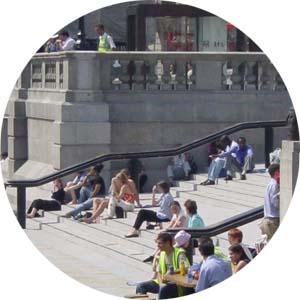 escalinata Trafalgar Square 2_ Sintaxis Espacial o del espacio