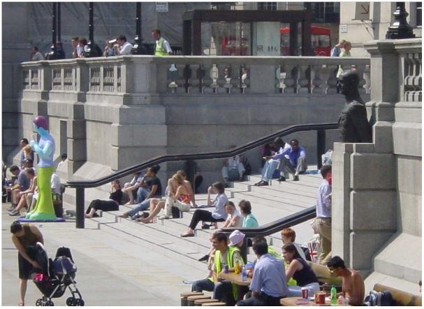 escalinata Trafalgar Square_ Sintaxis Espacial o del espacio