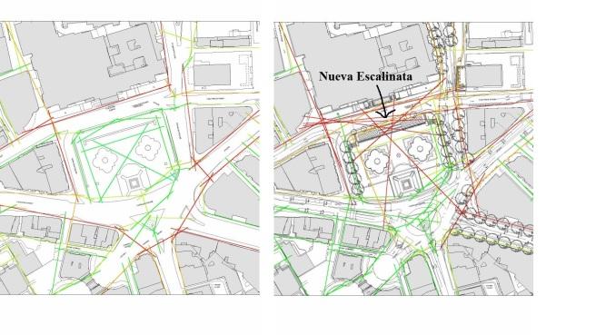 Trafalgar Square. Analisis sintactico_ Sintaxis espacial o del espacio
